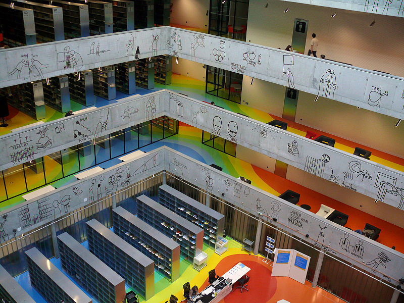 Inside of the Czech National Technical Library; copyright (www.rudomilov.ru)